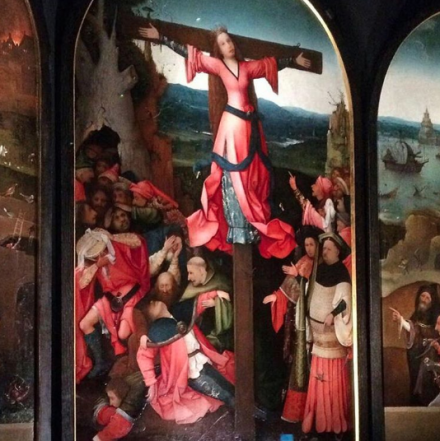 Hieronymus Bosch, St. Wilgefortis Triptych (c. 1495-1505), via Quincy Childs for Art Observed