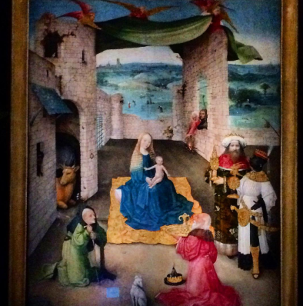 Hieronymus Bosch, The Adoration of the Magi (c. 1470-80), via Quincy Childs for Art Observed