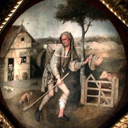 Hieronymus Bosch, The Wayfarer (c. 1500-1510), via Quincy Childs for Art Observed