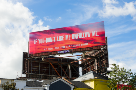 Alex Israel & Brett Easton Ellis's Show Billboard, via Gagosian