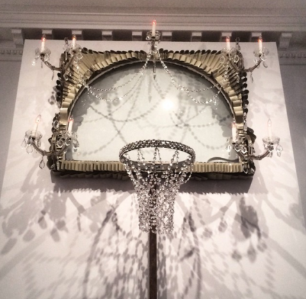 David Hammons, Basketball Chandelier (1997), via Art Observed