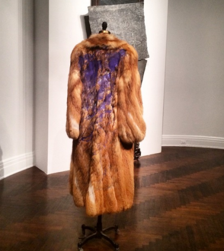 David Hammons, Fur Coat (2007), via Art Observed