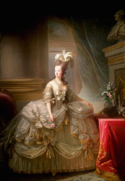 Marie Antoinette in Court Dress (1778), via Art Observed