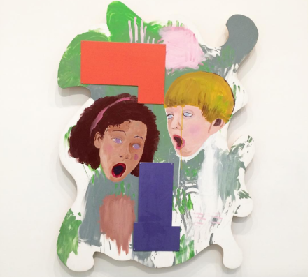 Mike Kelley, Prenatal Mutual Recognition of Betty and Barney Hill (1995), via Art Observed