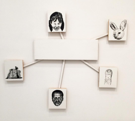 Mike Kelley, Snowflake (Center and Peripheries #3),(1990), via Art Observed