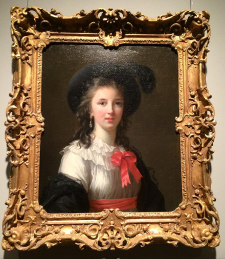 Vigée Le Brun, Self-Portrait with Cerise Ribbons (1782), via Art Observed