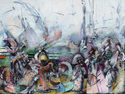 Ali Banisadr, Treasure (2016), via Sperone Westwater