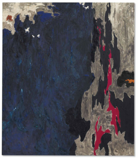 Clyfford Still, PH-234 (1948), via Christie's