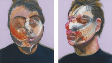 Francis Bacon, Two Studies for a Self-Portrait (1970), via Sotheby's