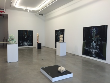 Gert and Uwe Tobias, Drawings and Sculpture (Installation View), via Art Observed