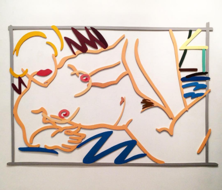 Tom Wesselmann, Judy on Blue Blanket (1999), via Art Observed