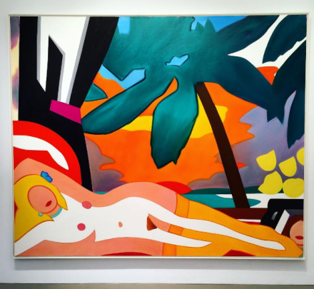 Tom Wesselmann, Sunset Nude with Big Palm Tree  (2004), via Art Observed