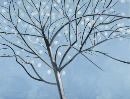 Alex Katz, Dogwood (2016), via Thaddaeus Ropac