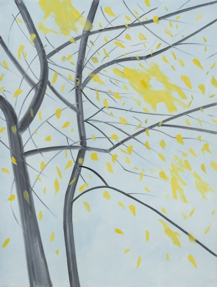 Alex Katz, Fall (2015), via Thaddaeus Ropac