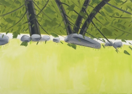 Alex Katz, Four Trees 2 (2015), via Thaddaeus Ropac