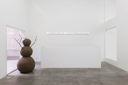Claire Fontaine, May Our Enemies Not Prosper (Installation View), via Galerie Neu