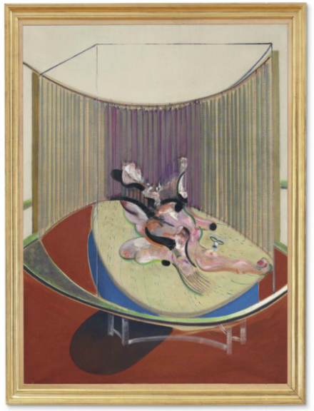 Francis Bacon, Version No. 2 of Lying Figure with Hypodermic Syringe (1968), via Christie's