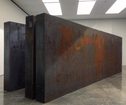 Richard Serra, Through (2015), via Art Observed
