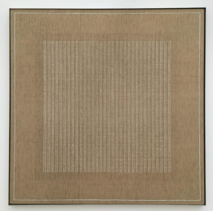 Agnes Martin, The Islands (1961), via Art Observed