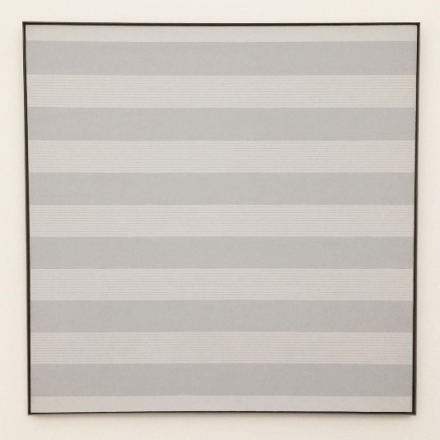 Agnes Martin, Untitled #1 (1989), via Art Observed