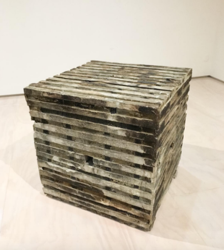 Jackie Winsor, Burnt Piece (1977-78), via Art Observed