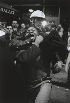 Danny Lyon, Occupy Demonstration on Broadway,       Los Angeles, 2011 (2011) via Whitney Museum of American Art