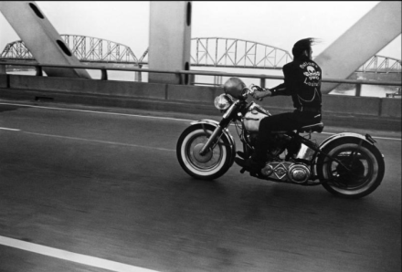 Danny Lyon, Crossing the Ohio River, Louisville, 1966 (1966)  		         via Whitney Museum of American Art
