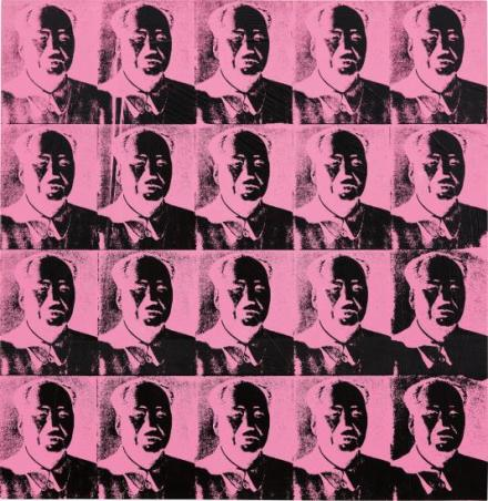 Andy Warhol, 20 Pink Maos (1979), via Phillips