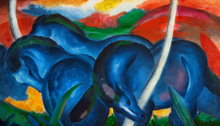 Franz Marc, The Large Blue Horses (1911), via Fondation Beyeler