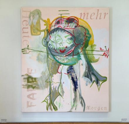 Martin Kippenberger, Ohne Titel (Aus der Serie 'Fred the Frog') (1990), via Art Observed