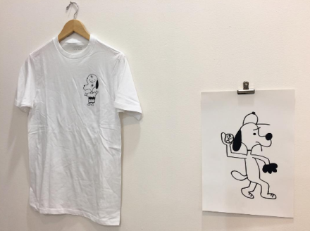 Prints and shirts by Ken Kagami at New Documents, via Art Observed