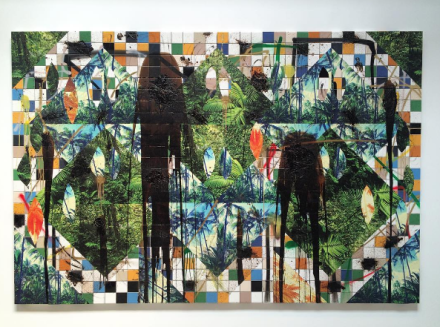 Rashid Johnson, Untitled Escape Collage (2015), via Art Observed