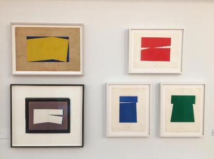 Carmen Herrera, Lines of Sight (Installation View), via Art Observed
