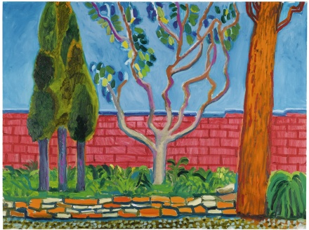 David Hockney, Guest House Wall (2000), via Sotheby's