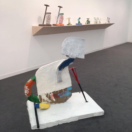 Eddie Martinez at Timothy Taylor Gallery, via Art Observed