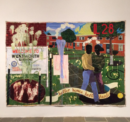 Kerry James Marshall, Better Homes, Better Gardens (1994), via Art Observed