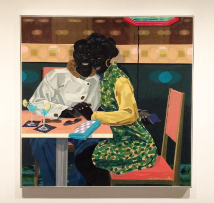 Kerry James Marshall, Untitled (Club Couple) (2014), via Art Observed