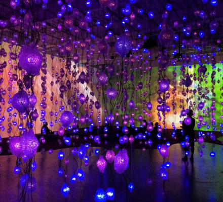 Pipilotti Rist, Pixel Forest (2016), via Art Observed