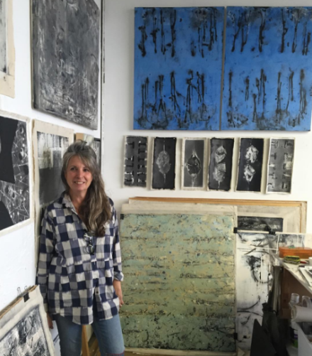 Shira Toren in her studio, via Art Observed