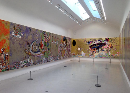 Takashi Murakami, Learning the Magic of Painting (Installation View), via Art Observed