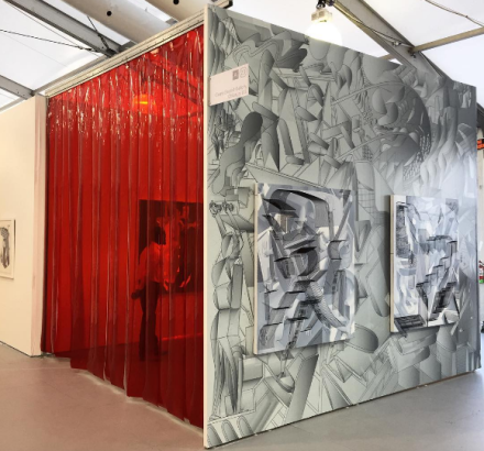 Andrew Holmquist's Booth Install at Carrie Secrist for Untitled Art Fair, via Art