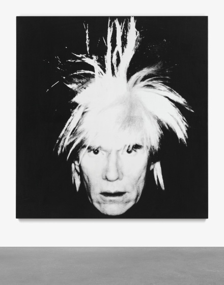 Andy Warhol, Self-Portrait (Fright-Wig) (1986), via Sotheby's