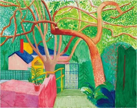 David Hockney, The Gate (2000), final price $6,970,000, via Phillips