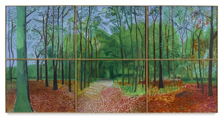 DAvid Hockney, Woldgate Woods 24, 25,26, October 2006 (2006), via Sotheby's