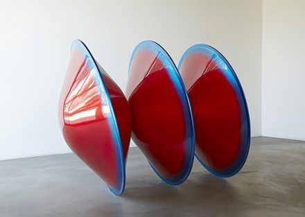 DeWain Valentine, Triple Disc Red with Blue Lip (1967), via Sprüth Magers