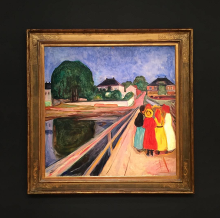 Edvard Munch, Girls on the Bridge (1902), via Art Observed