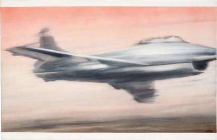 Gerhard Richter, Dϋsenjäger (1963), via Phillips