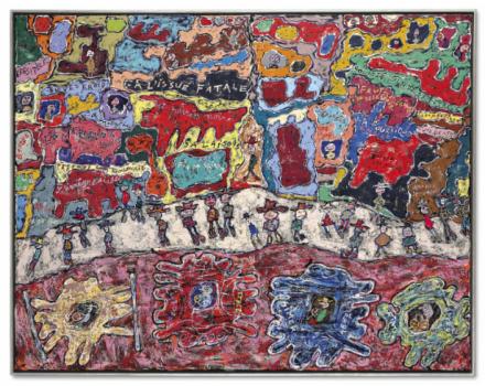 Jean Dubuffet, Les Grandes Artères (1961), via Christie's