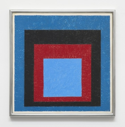 Josef Albers, Homage to the Square Zwischen Zwei Blau (Between Two Blues) (1955), via David Zwirner.jpg