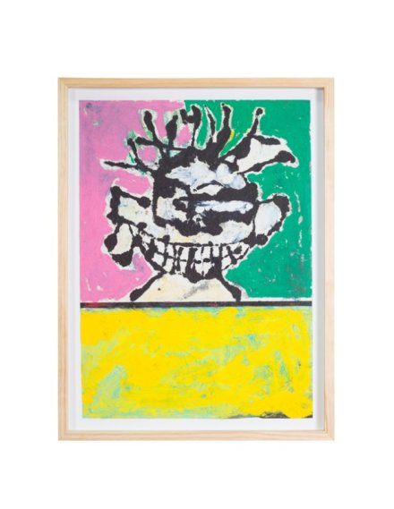 Zachary Armstrong, Face Study (Green, Pink and Yellow), (2016), via Feuer Mesler